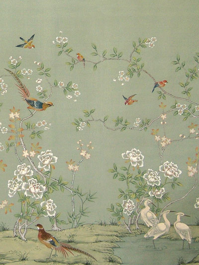 Chinoiserie Wallpaper with Birds