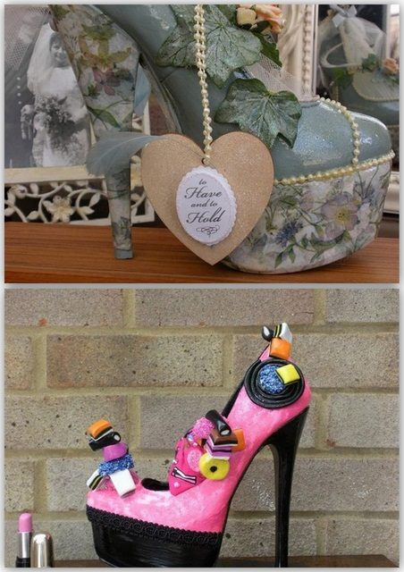 Antiqued Wedding Shoe and Licorice of Sorts