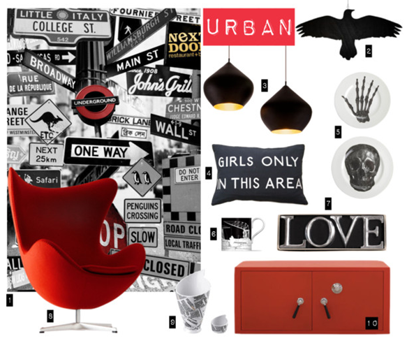 interiors,red,black,white,urban,shopping