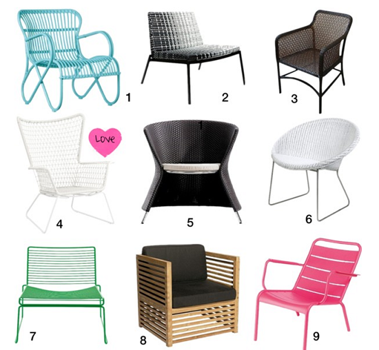 Outdoor Armchairs - 9 of the Best...