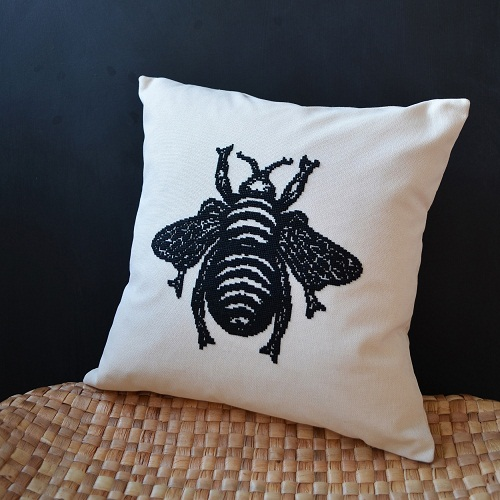 Roost Living Bee Cushion square