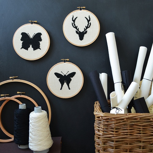 Roost Living Cross Stitch Kits.