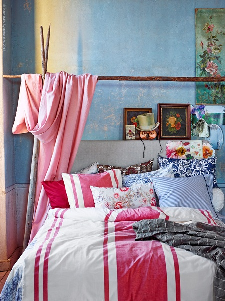 Bohemian spring bedroom from ikea.se
