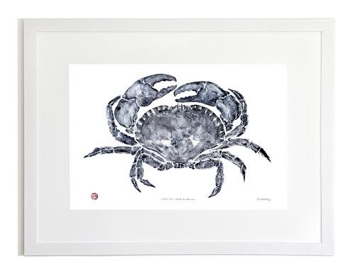 Crab Gyotaku Print