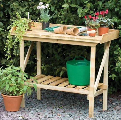 Internet Gardener  Potting Bench