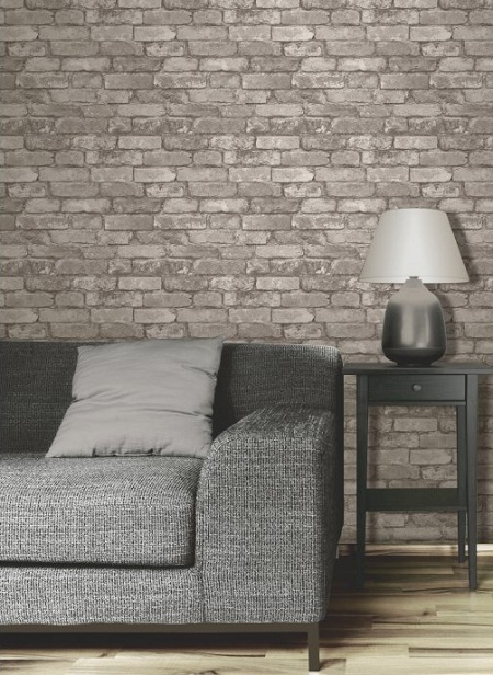 A Little Fakery Brick Effect Wallpaper Dear Designer