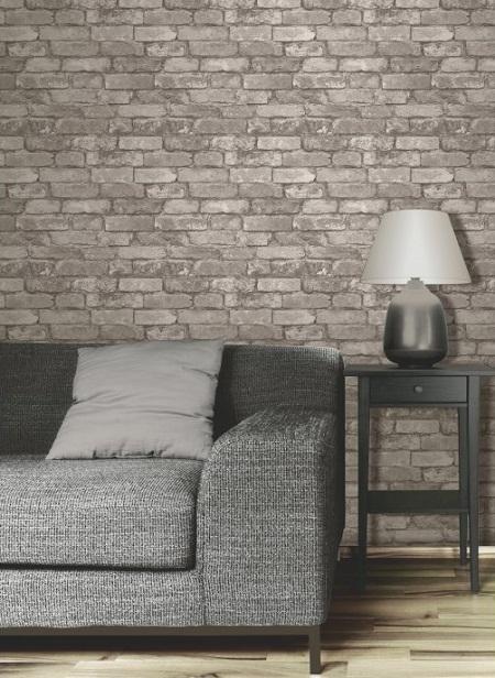 A Little Fakery Brick Effect Wallpaper Dear Designer