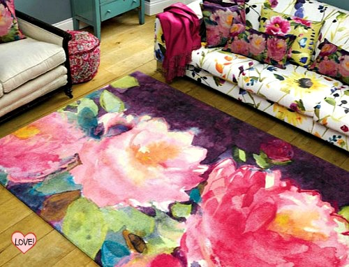 gardens floral capitola rug by barbraignatiev watercolor rugs of product