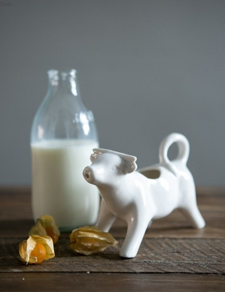 rose and grey milk jug