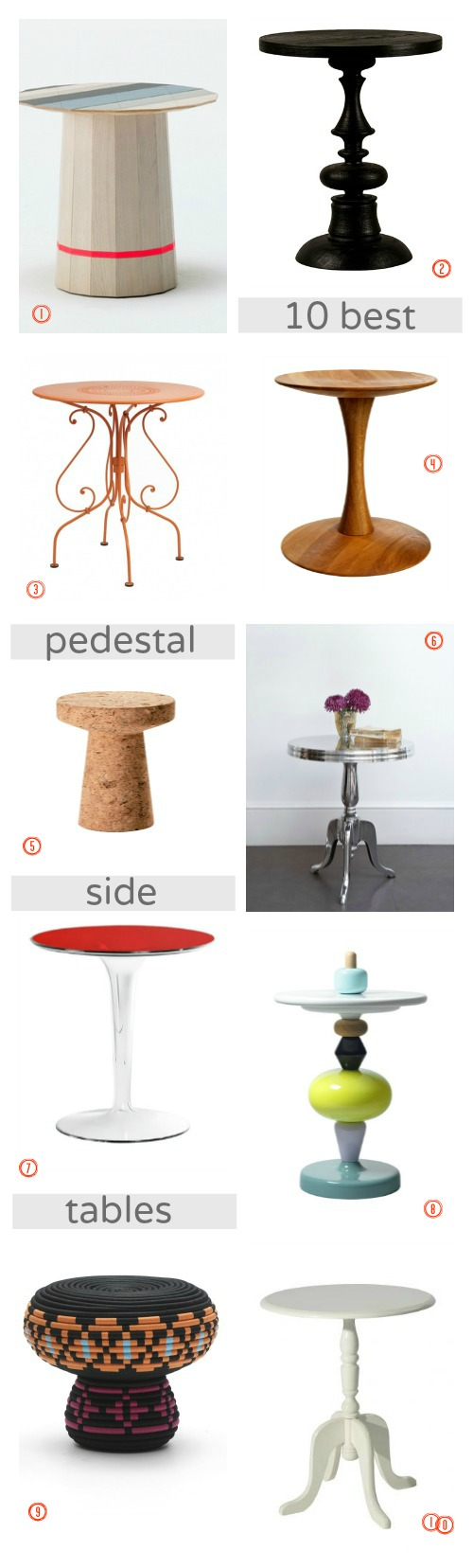 ten of the best - pedestal side tables 1