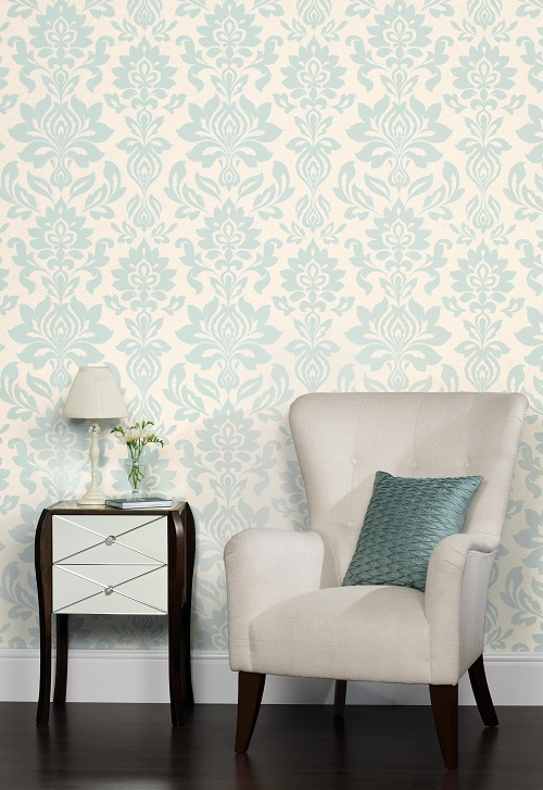 Can you be a minimalist and still love wallpaper dear for Duck egg dining room ideas