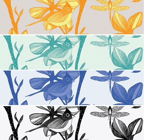 camilla meijer - the english garden wallpaper colourways