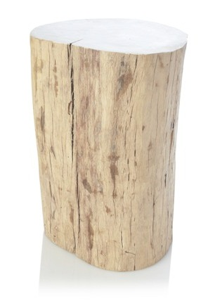 french connection tree trunk side table
