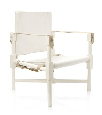 french connection white safari chair
