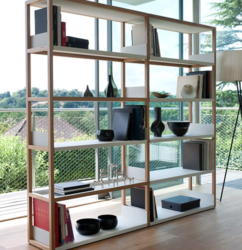 Lap shelving by Marina Bautier via Case Furniture