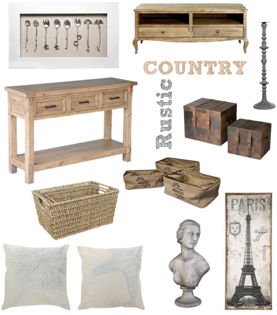 Rustic, Country