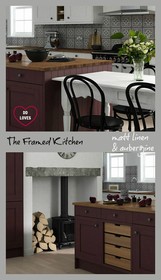 Very Best The Framed Kitchen in Linen and Aubergine Matt - The Linda Barker  550 x 956 · 129 kB · jpeg