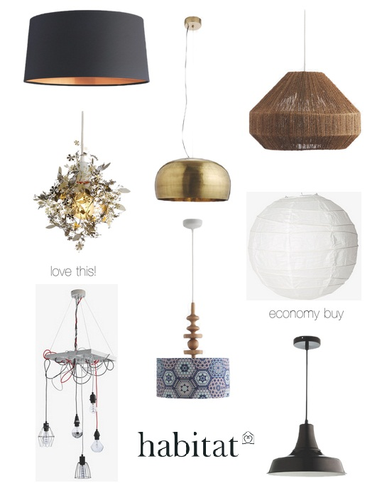 Habitat Easy Fit Pendant Lamps