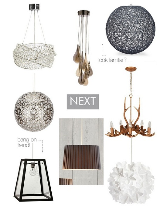 Next Home Easy Fit Pendant Lamps