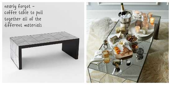 West Elm coffee table - Dear Designers Blog
