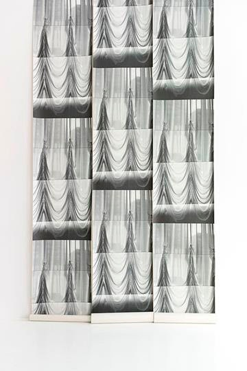 Deborah Bowness Swags Wallpaper - wall swag negative white