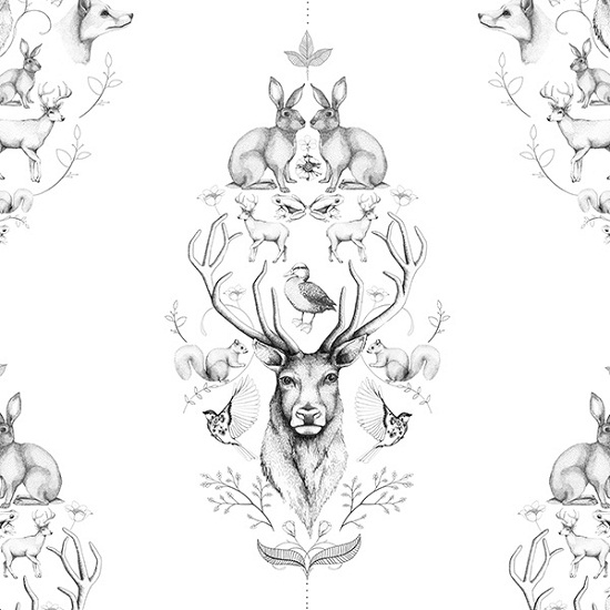 Linn Warme Wallpaper Designs - Animal Symetry
