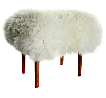 sheepskin stool from limelace
