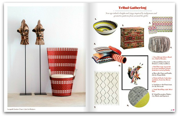 tribal gathering from the March 2014 issue of Heart Home mag