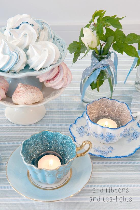 OCHRE AND OCRE Ledbury (soft duck egg and grey stripe) Table Linen