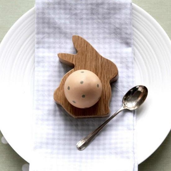 decorum easter bunny egg cups