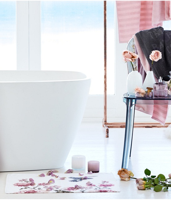 h&m home hummingbirds, flowers and pink