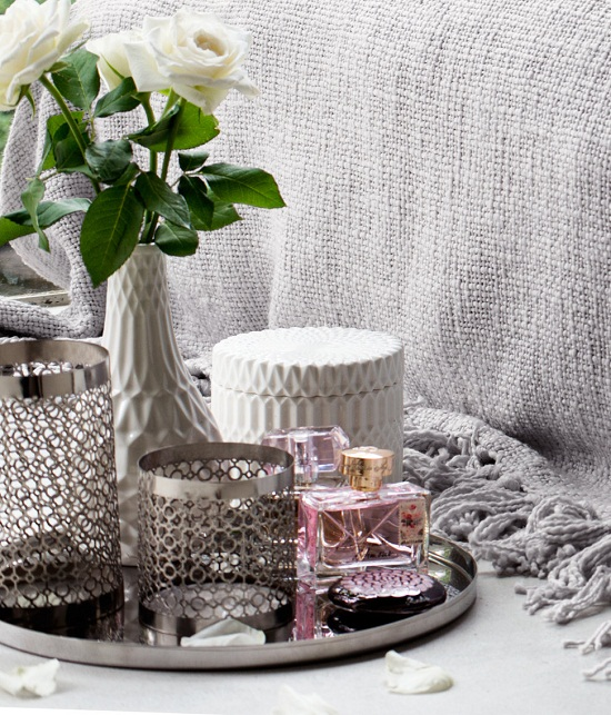h&m home porcelain, metal and woven textures