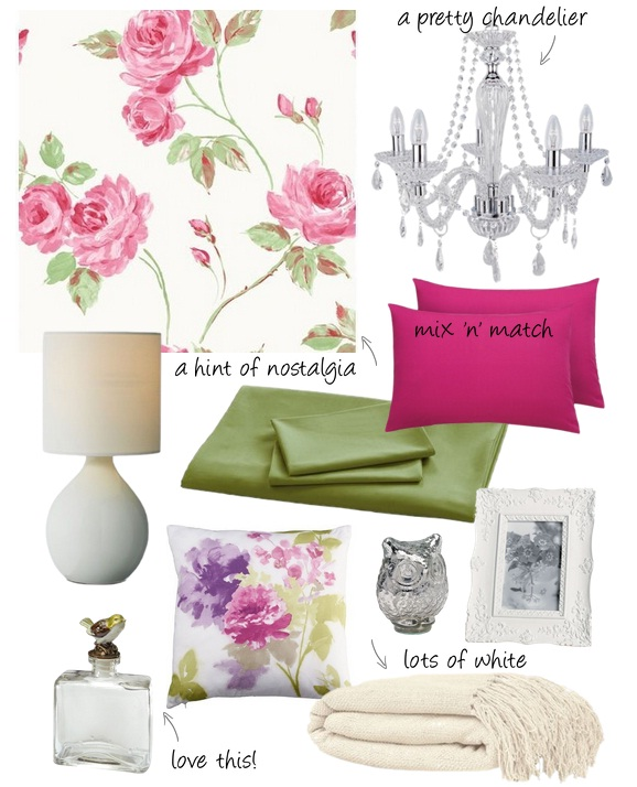 A Feminine Bedroom Scheme from Homebase
