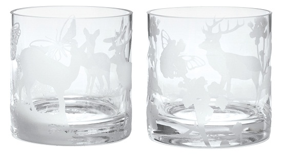 Rikki Tikki Susanne Schjerning Set of 2 Glass Hurricanes, £16.95