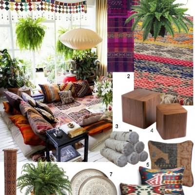 Boho Chic Conversation Pit via Dear Designers Blog