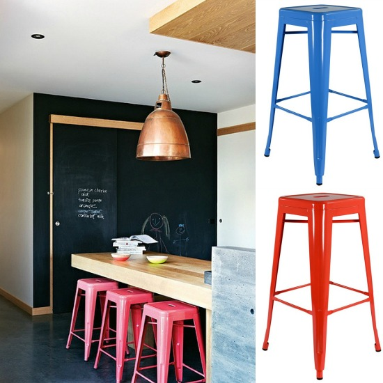 Image from The Style Files - Stools from Lakeland Furniture