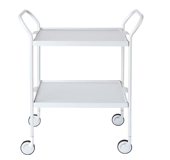 Kaymet Modern Trolley, Silver with Silver Trays via Clippings £339