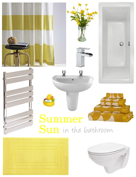 Summer sun in the bathroom via Dear Designers Blog