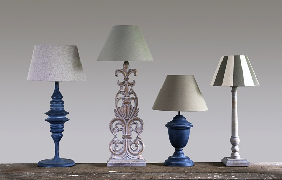 Blue Isle table lamps