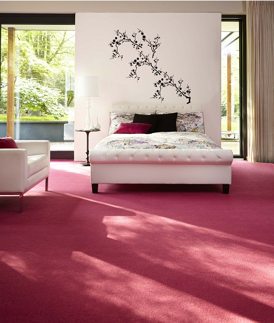Carpetright, Virgo Pink Carpet £7.99m2