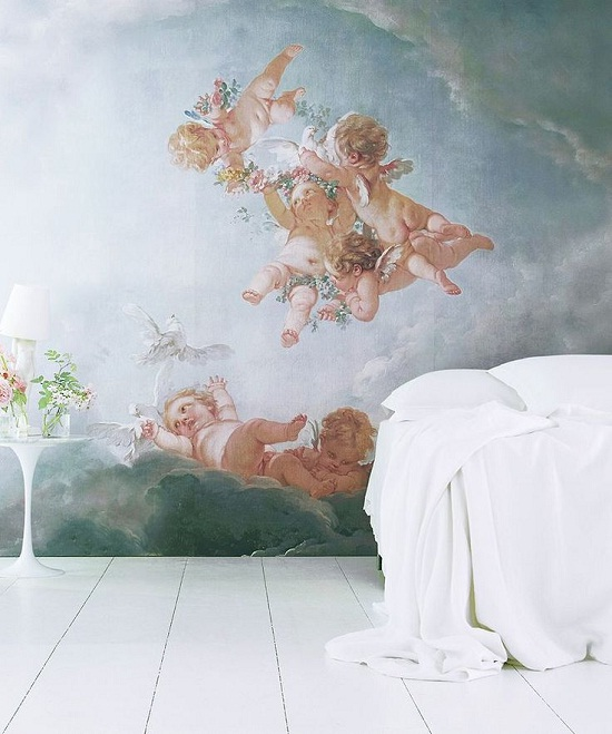 Cherubs wall mural from An Angel at my Table