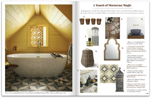 Heart Home magazine July 2014 - A touch of moroccan magic shopping feature