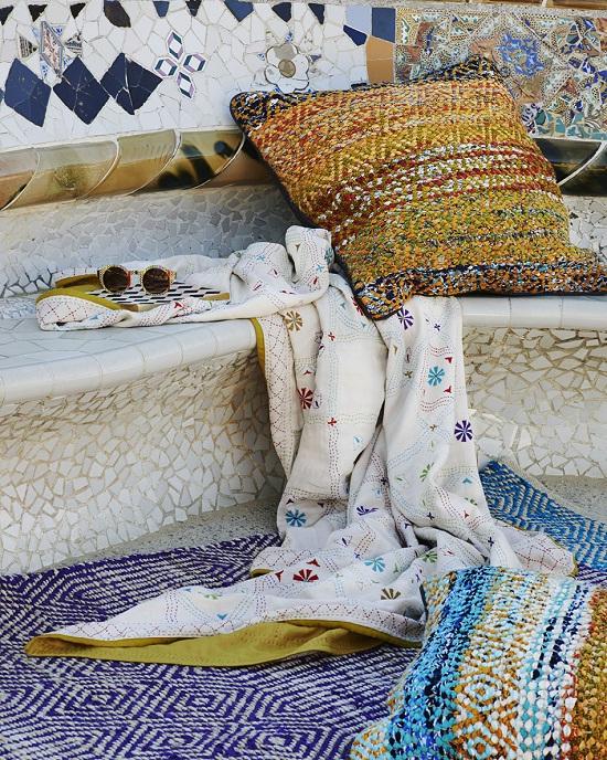 Toast 2014 cushion, rug, bedspread