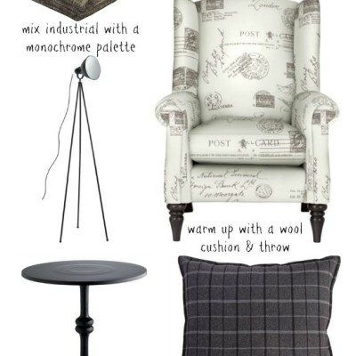 Homebase Wingchair and Accessories = Modern Country