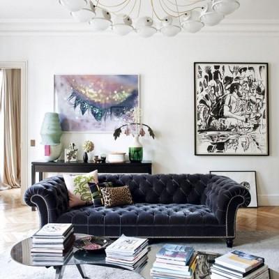 The Parisian Apartment of Interior Designer Sandra Behaumou Via Elle Deco Spain [3]