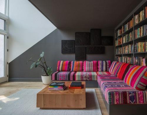corner sofa via Design Sponge