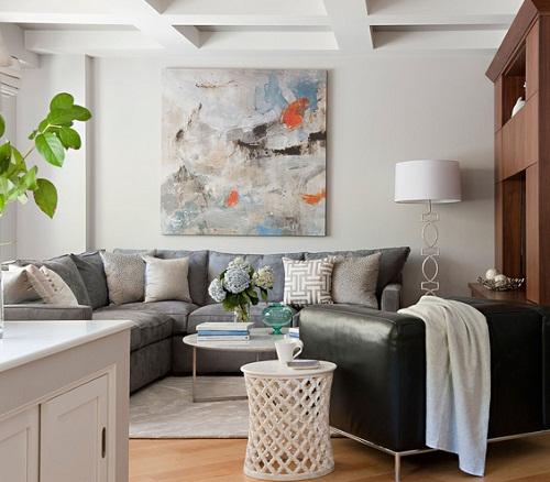 corner sofa via Real Simple