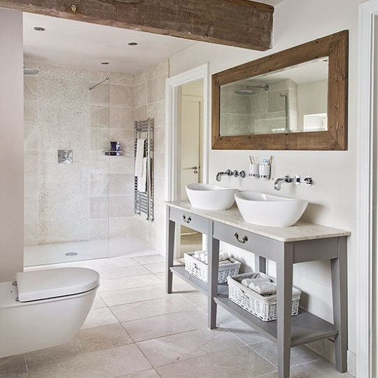 Bathroom Shower via Living etc