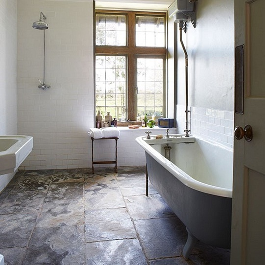 Bathroom wet room via Living etc