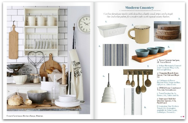 Heart Home magazine - September 2014 - Modern Country Shopping Pages